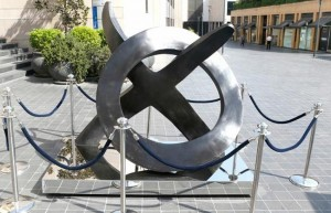 Beirut Souks,  the Phoenician letters of Taw, and the letter Ayin, which resembles a circle. ©www.dailystar.com.lb